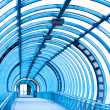Empty blue corridor interior — Stock Photo #1286903