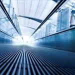Moving escalator in modern hall — Stock Photo #1287058