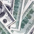 Stock Photo: One hundred dollar banknotes background