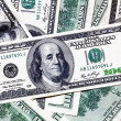 One hundred dollar banknotes background — Stock Photo #1287313