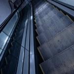 Escalator in grey — Stock Photo