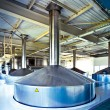 Stock Photo: View to steel fermentation vat
