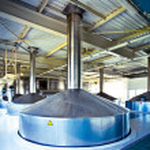 View to steel fermentation vat — Stock Photo