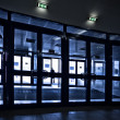 Royalty-Free Stock Photo: Doors silhouettes at modern airport