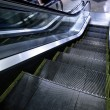 Moving escalator without — 图库照片