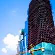 Stock Photo: Unfinished skyscrapers business center w