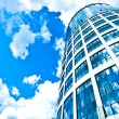 Blue modern office skyscraper - Stock Photo