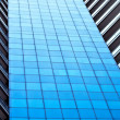 Facade of modern blue office - Stock Photo