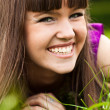 Portrait of pretty smiling girl — Stock Photo