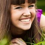 Portrait of pretty smiling girl — Stock Photo