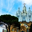 Stock Photo: Gothic cathedral on top of Tibidabu