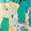 Crop of old multicolours wall (azure, br — Stock Photo