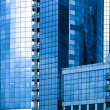 Blue-grey skyscrapers business centre — Stock Photo