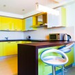Yellow kitchen interior — Stock Photo #1289256