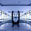 Empty gray escalator — Stockfoto