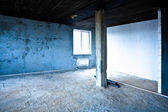 Destroyed dirty interior — Stock Photo
