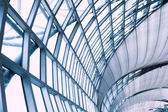 Abstract blue ceiling interior backgroun — Stock Photo
