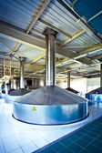 View to steel fermentation vat — Stock Photo