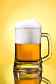 Full mug of lager beer — Stock Photo