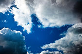 Cloudly sky after the storm — Stock Photo