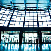 Hall interior in trade center — Stock Photo