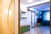 Hall with mirror and enter to room — Stockfoto