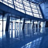 Blue hall interior — Stock Photo