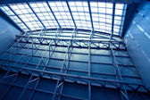 Wide blue ceiling — Stock Photo