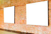 Two frames on brick wall — Stock Photo