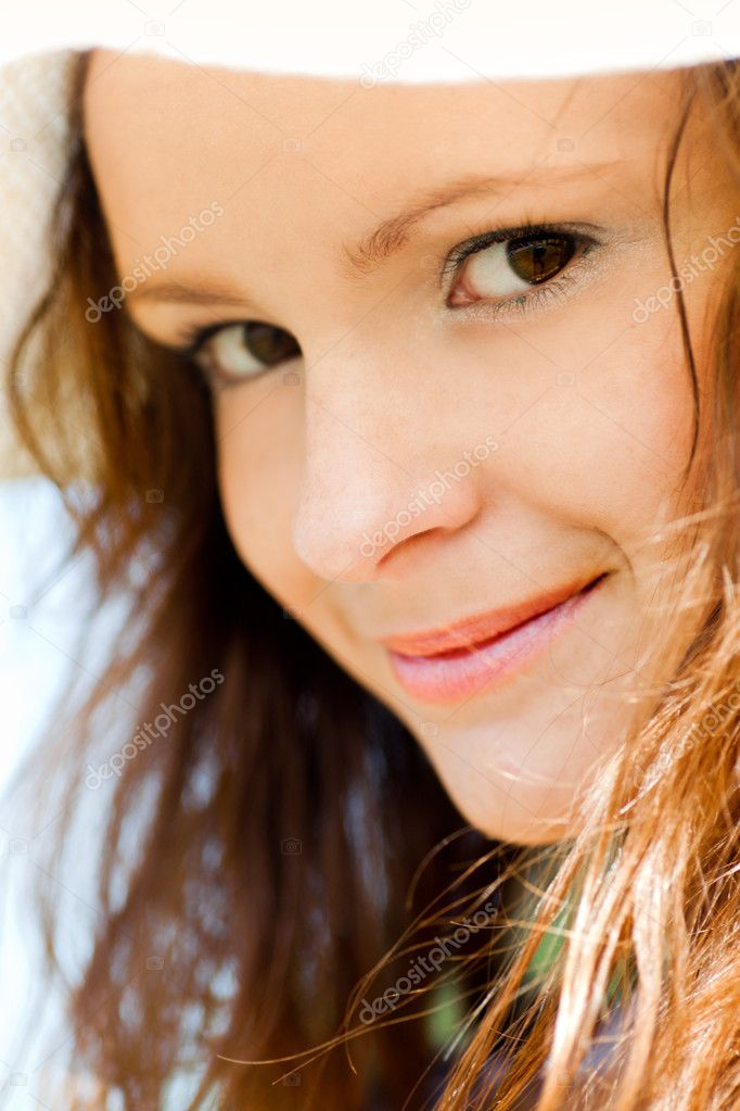 Smiling teen portrait closeup  Stockfoto #1288589