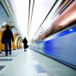 Train on underground station — Stock Photo #1292034