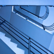 Blue staircase - Stockfoto