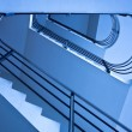 Blue staircase — Stock Photo