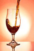 Beer glass with dark beer — Stock Photo