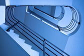 Blue staircase — Stock Photo