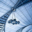 Abstract blue ceiling with lamps — Stock Photo #1319137