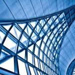 Abstract blue wall corner — Stock Photo