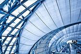 Abstraktní modrý koridor — Stock fotografie