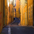 Bend streets in Marseille - Stock Photo