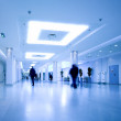 Blue hall of office centre — Stock Photo