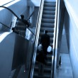 Stock Photo: Mooving escalators