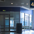 Blue gate 46 in airport terminal, Moscow — Stock Photo