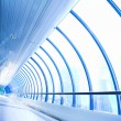 Blue glass corridor — Stock Photo #1328213
