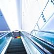 Move escalator in modern office — Stock Photo
