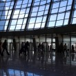 Stock Photo: Silhouettes at airport