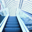 Escalator in shopping center, Moscow - Stock Photo