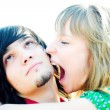 Girl sting emo boy — Stockfoto #1328273