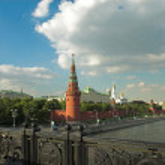 Moscow Kremlin wall and bridge — Stock Photo