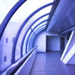 Violet glass corridor — Stockfoto