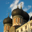 Izmailovo church domes — Stock Photo